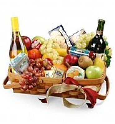 825f_Gourmet-Fruit-Basket-with-Wine